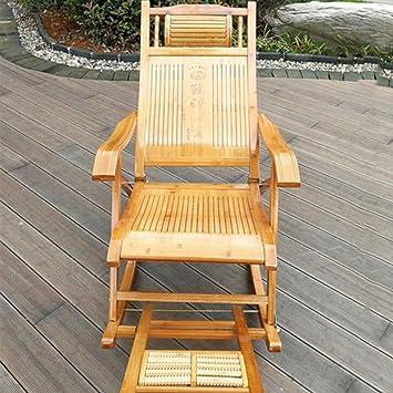Brisk Schaukelstuhl Erwachsenen Bambus Lounge Stuhl Klappstuhl