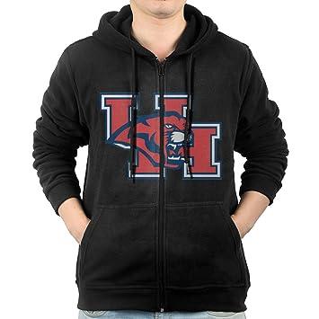 0358a4430c93b7 JLJK Herren Universität Houston Full Zip Hoodies Jacken Schwarz, Herren,  schwarz