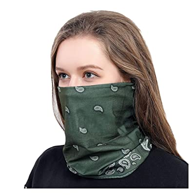 WEISUN Face Cover Magic Scarf Outdoor Headwear Bandana Sports Tube UV Face Cover for Workout Yoga Running Green: Clothing [5Bkhe0306819]