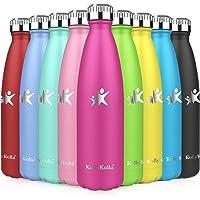 KollyKolla Stainless Steel Water Bottle - 650ml Double Walled BPA Free Flask, Vacuum Insulated Drinks Bottles Keeps Hot…