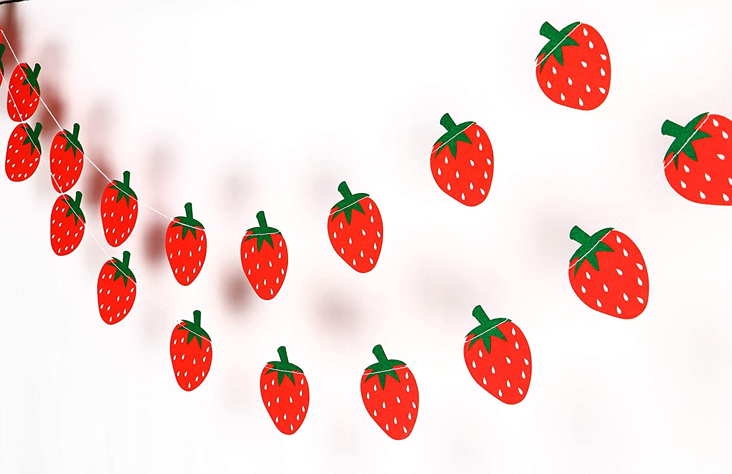 Strawberry Garland - Birthday Decorations,Party Decorations,Party  décor,Creative Decoration