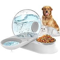 LeYoMiao - Dispensador de agua automático 2 en 1 para mascotas, juego de cuenco de alimentación para perros y gatos…