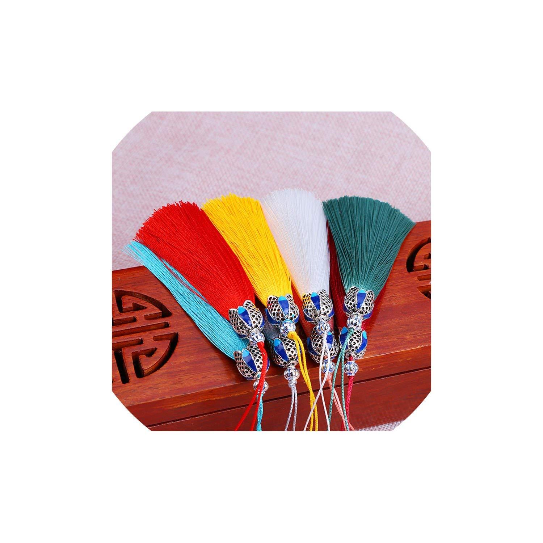 20Pcs/Lot Chinese Knot Tassels Handmade Long Silk Tassel Pendants for Tassel Jewelry Materials,Pick Color