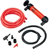 Koehler Enterprises RA990 Multi-Use Siphon Fuel Transfer Pump Kit (for Gas Oil and Liquids), Red, medium