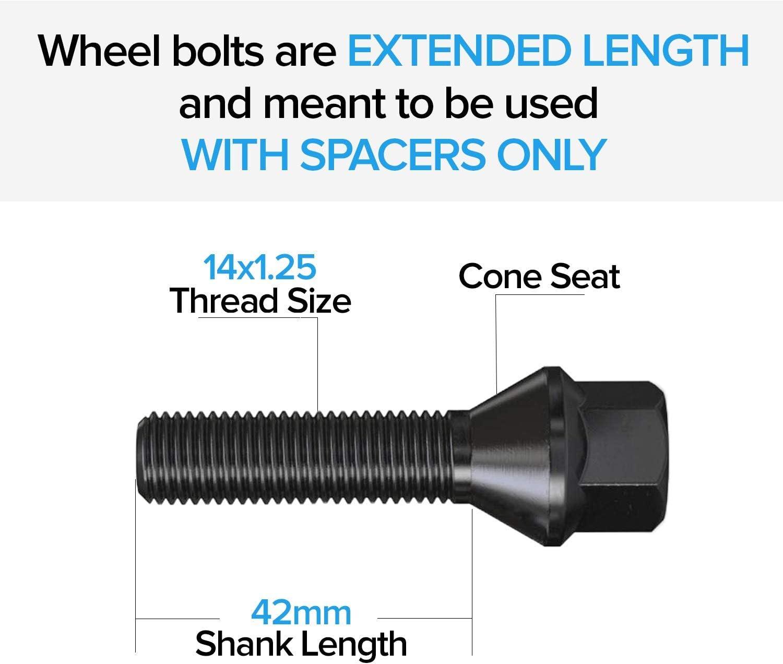 M14x1.25 Extended Longer Wheel Bolts BMW MINI R56 VARIOUS LENGTHS