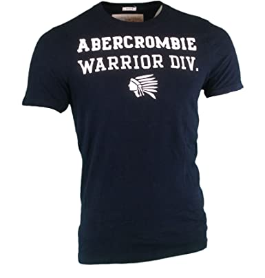 b45805af Abercrombie Men's Muscle Fit Embroidered T-Shirt T-Shirt, Size L, Navy