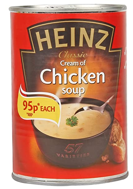 Heinz Cream of Chicken Soup, 400g Ready Made Soup Mix at amazon