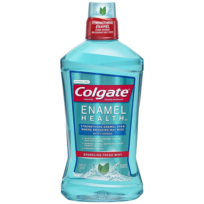 Colgate Enamel Health Mouthwash, Fresh Mint - 1L, 33.8 fluid ounce