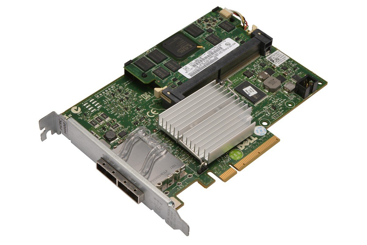 5KYFR - RAID Controller PCI-E 2.0 SAS 1GB Cache W/Battery 2-Port PERC H800 Dell