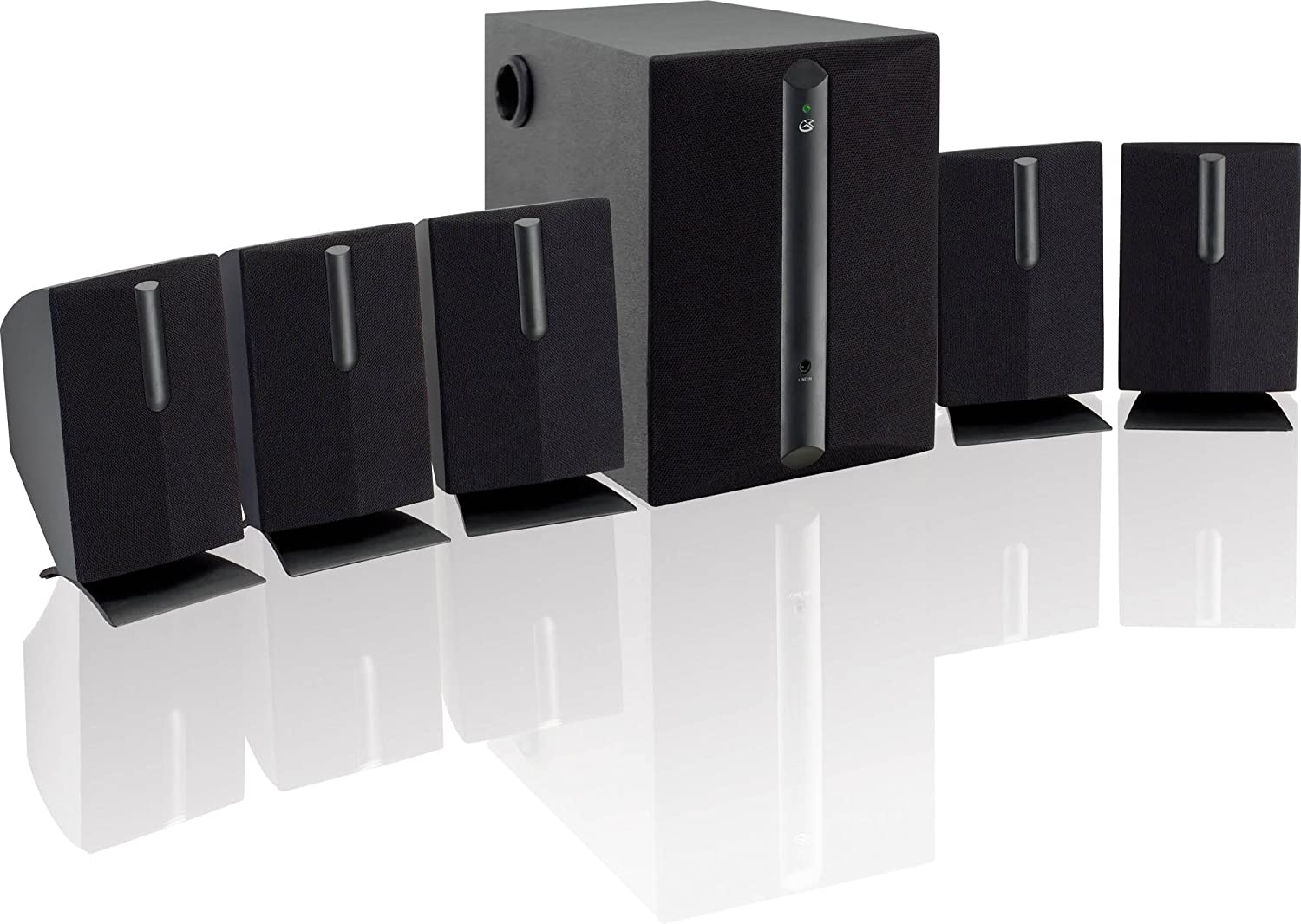 GPX HT8B 8.8 Channel Home Theater Speaker System (Black)