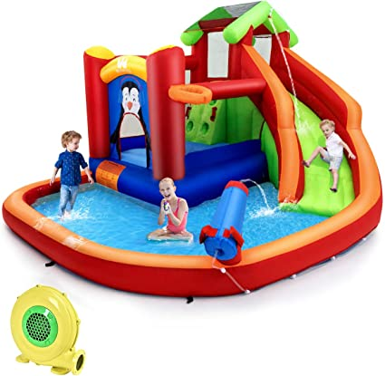 Amazon.com: Bountech - Tobogán de agua hinchable, 6 en 1 ...