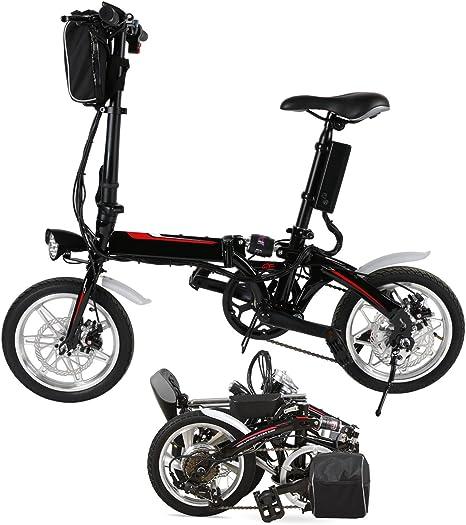 chigant 14 pulgadas Rueda de bicicleta eléctrica, Mini E-Bike ...