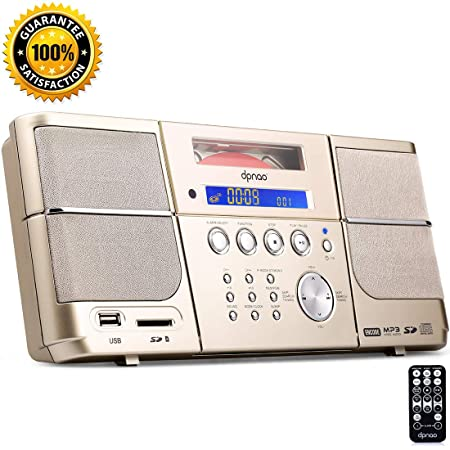 DPNAO 8-in-1 Multifunction Portable Cd Player