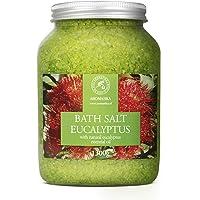 Badzout Eucalyptus 1300 g - Zeezout met Natuurlijke Essentiële Eucalyptusolie - Natuurlijk Badzout Het Beste voor Een…