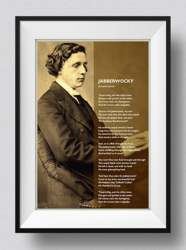 TPCK Lewis Carroll Gedicht - Jabberwocky - Foto Poster Hochglanz ...