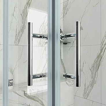 Puerta corrediza de entrada en curva ducha cubículo con bandeja de piedra, 800x800mm shower door with tray: Amazon.es: Hogar