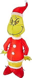 Gemmy Inflatable Grinch as Santa 4' Tall