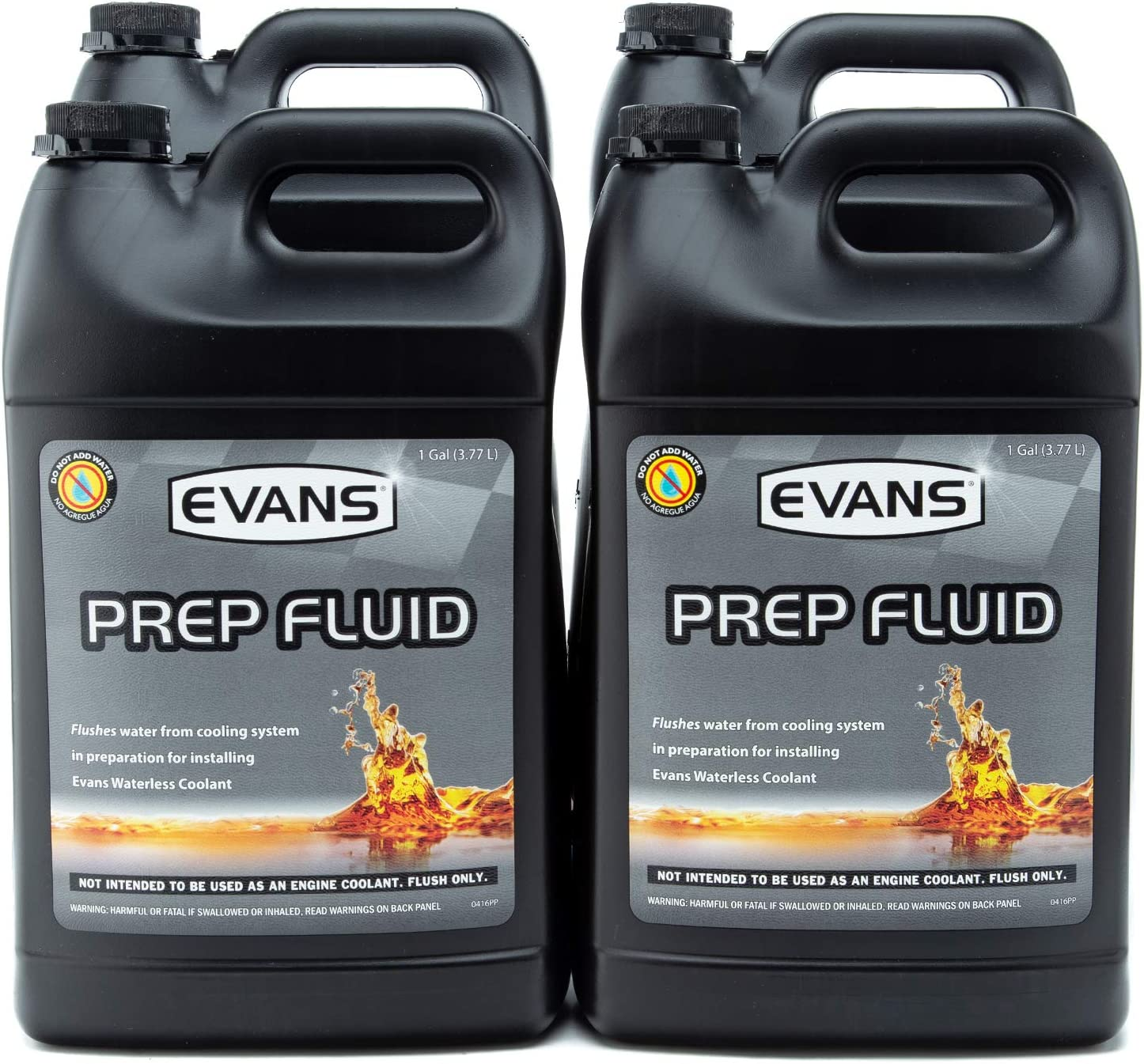 EVANS Coolant EC42001 Prep Fluid, 1 Gallon, 4 Pack