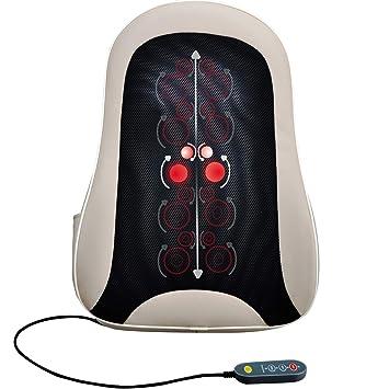 Amazon.com: Cojín de masaje inalámbrico Shiatsu para espalda ...