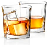 Ultra Clear Whiskey Glass for Bourbon and Liquor Set Of 2 Glassware JG10223 Old Fashioned Whiskey Glasses 10-Ounce JoyJolt Afina Scotch Glasses
