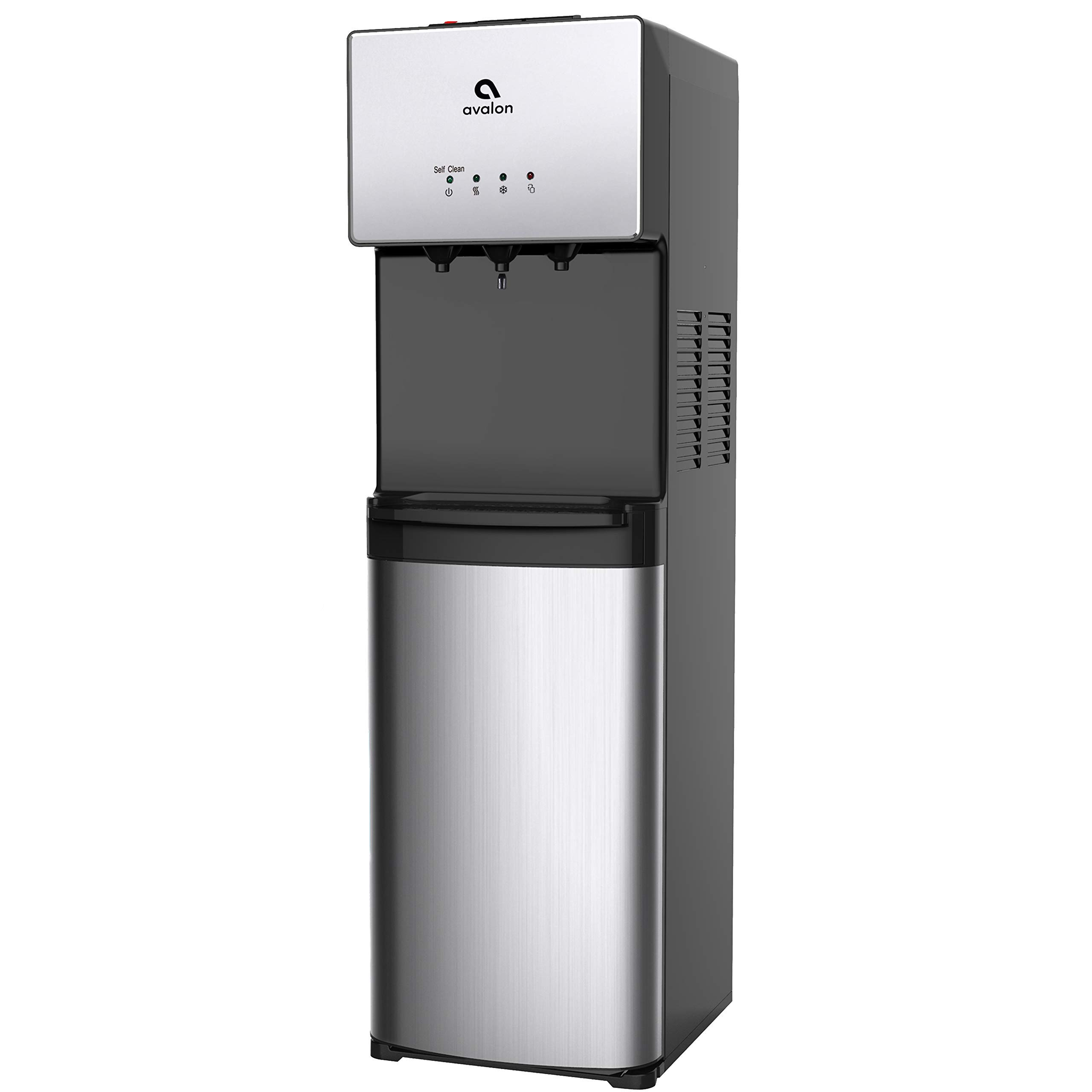 Avalon Limited Edition Self Cleaning Water Cooler Water Dispenser - 3 Temperature Settings - Hot, Cold, and Room Water, Stainless Steel, Bottom Loading - UL/Energy Star Approved (Renewed)