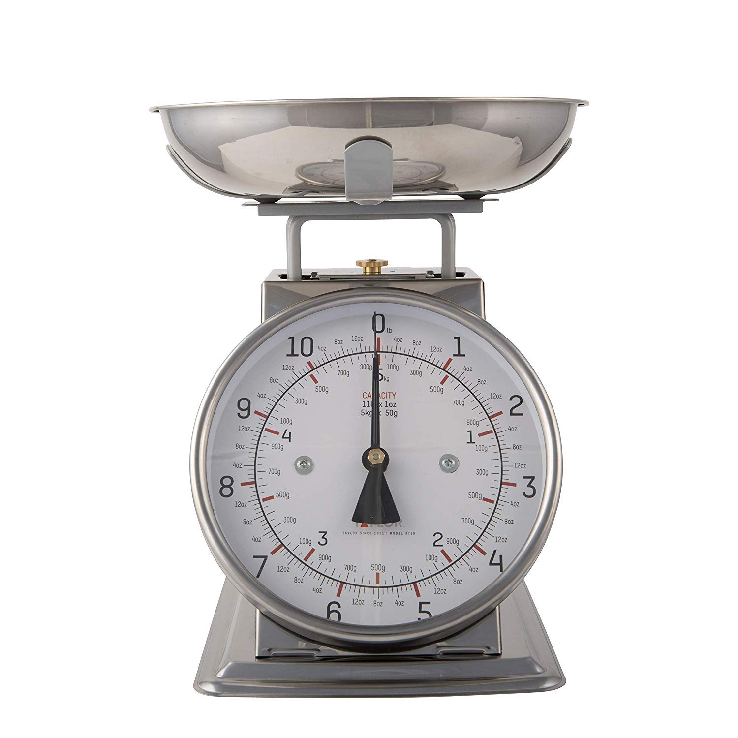 Taylor Stainless Steel Analog Kitchen Scale, 11 Lb. Capacity by Taylor Precision Products