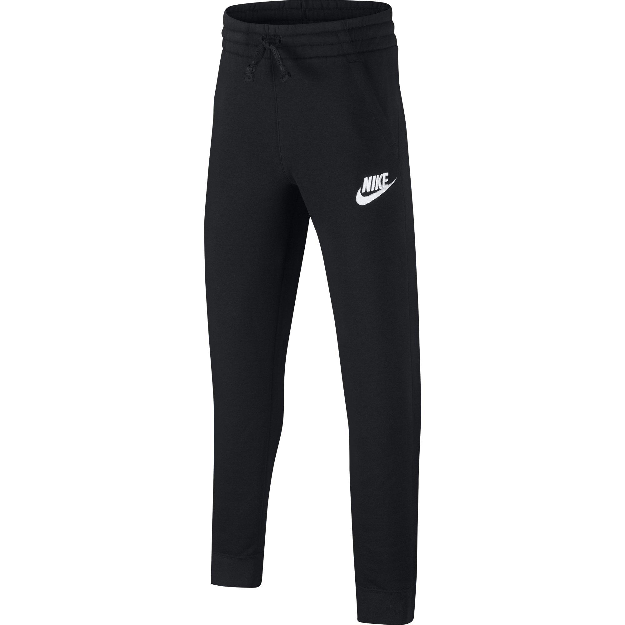 NIKE Sportswear Boys' Club Fleece Joggers, Black/Black/White, X-Small