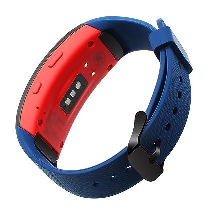 TRUMiRR Gear Fit 2 Correa de Reloj, Pulsera de Silicona con Correa de Silicona para Muñeca Samsung Gear Fit 2 SM-R360/Fit 2 Pro SM-R365 Reloj ...