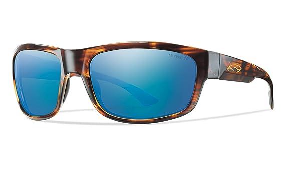Gafas de sol SMITH OPTICS DOVER (la Habana marco/Azul espejo polarizada lente)