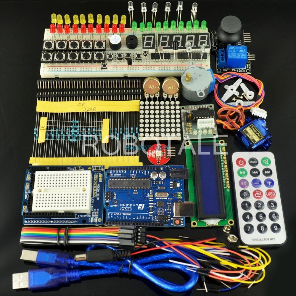 Universal Learning Suite C1 containing UNO R3 Development Board Starter kit