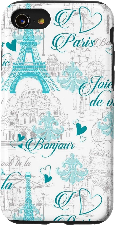 iPhone SE (2020) / 7 / 8 Retro Bonjour Paris Europe Vacation Fashion Women Girl Teen Case