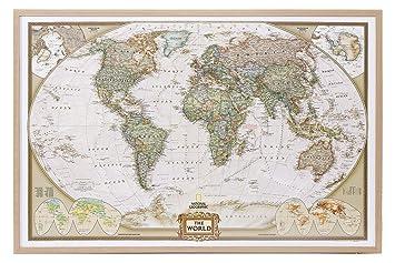 Amazon world map national geographic cork pinboard world map national geographic cork pinboard gumiabroncs Gallery