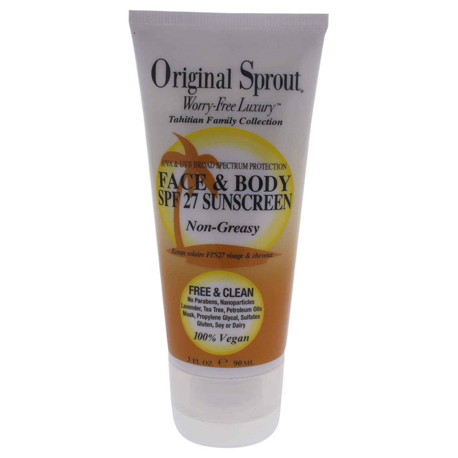 Original Sprout face & body sunscreen 3 oz 0012