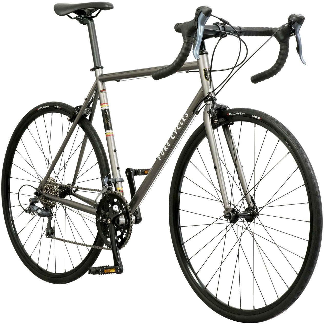 93c6c48028d Amazon.com : Pure Cycles Classic 16-Speed Road Bike : Sports & Outdoors