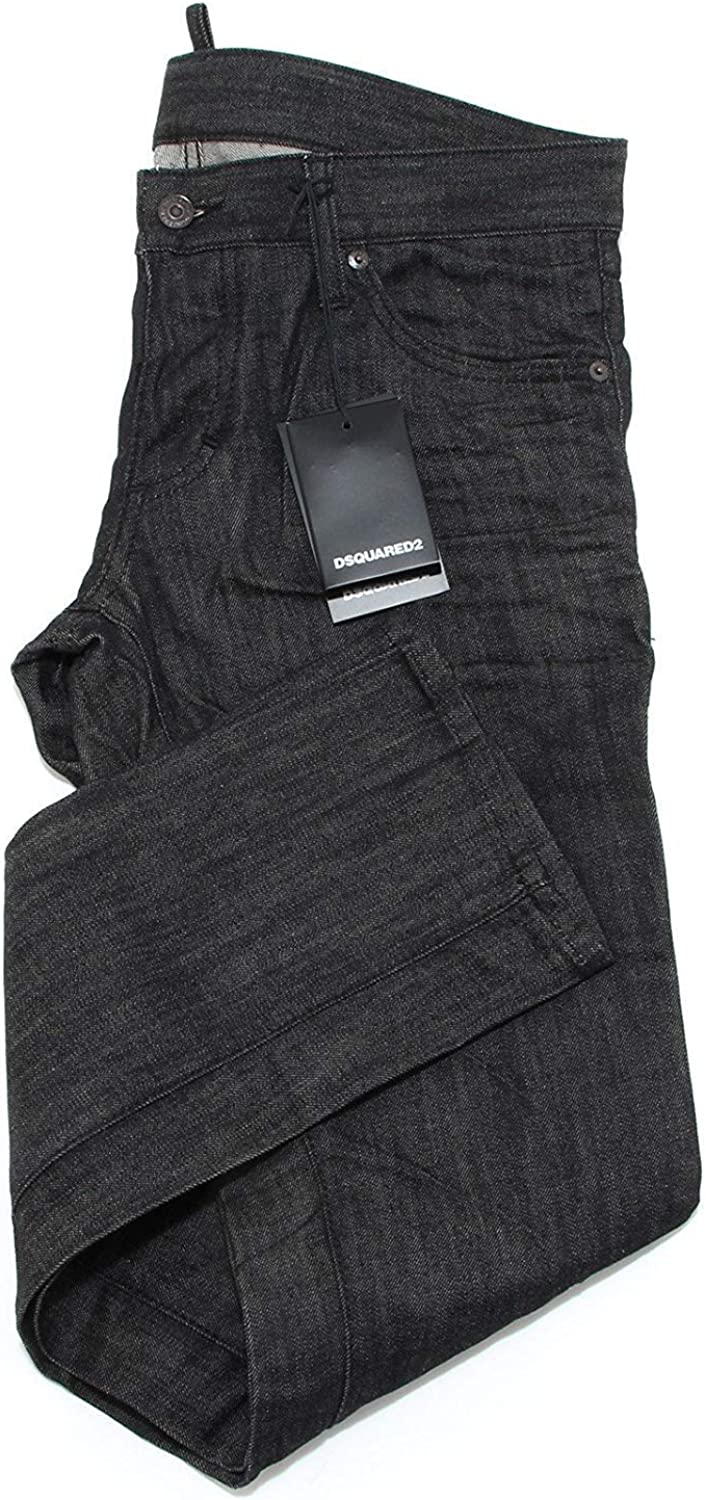 Dsquared Jeans Men S71la0843 Raw Denim Men Black Sale Original
