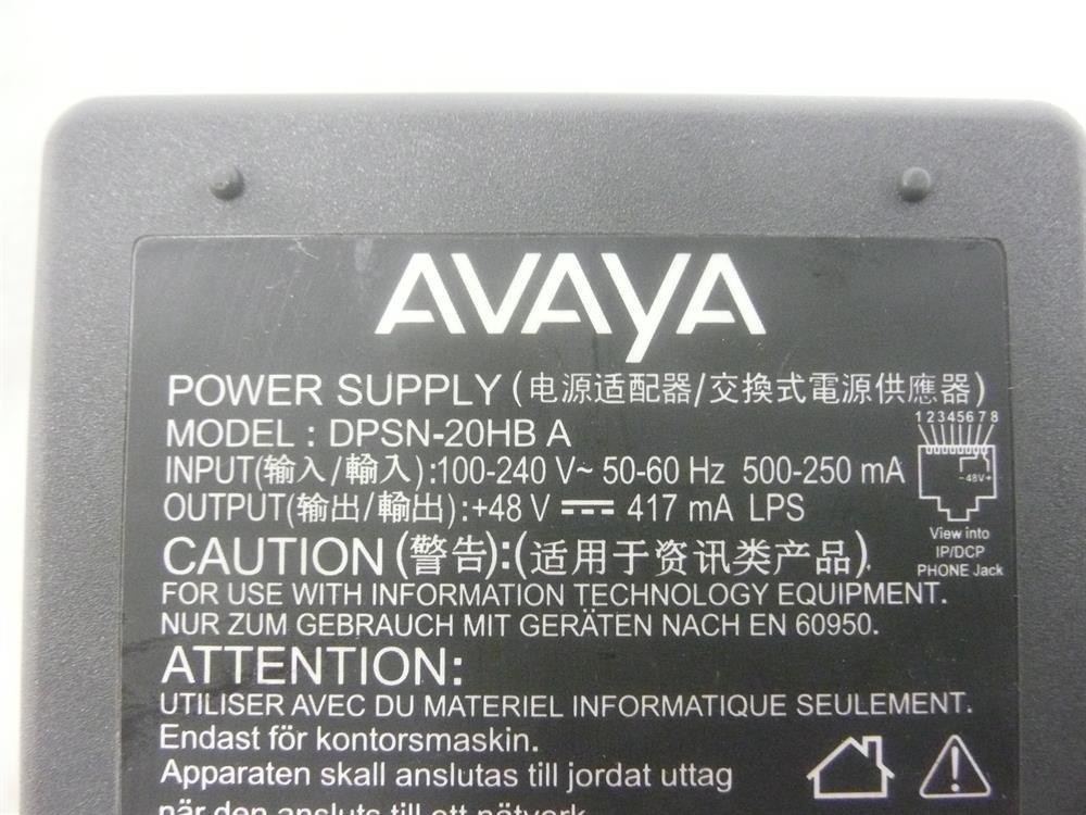 Avaya 1151C1//700356447//DPSN-20HB-A Power Supply