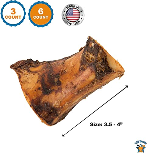 123 Treats – Meaty Dog Bones – 100 Natural Pork Beef Chews for Dogs Made in USA Brazil from Grass Fed Cattle