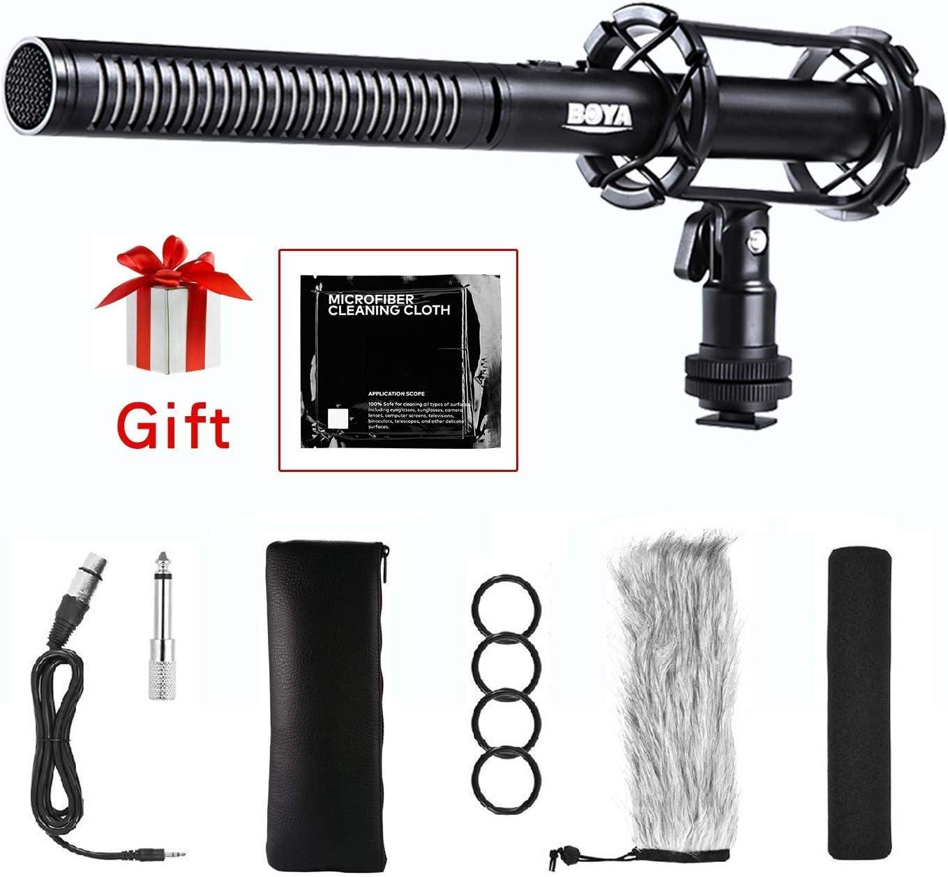 Amazon Com Interview Shotgun Microphone Xlr Boya By Pvm1000 Pro
