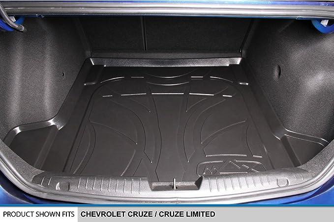 SMARTLINER Floor Mats 2 Row Liner Set Black for 2011-2015 Chevrolet Cruze 2016 Cruze Limited MAXLINER A0098//B0098