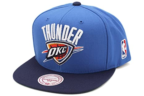 info for 76edf 9f02c Mitchell   Ness Oklahoma City Thunder XL Logo 2-Toned Snapback Hat - Light  Blue