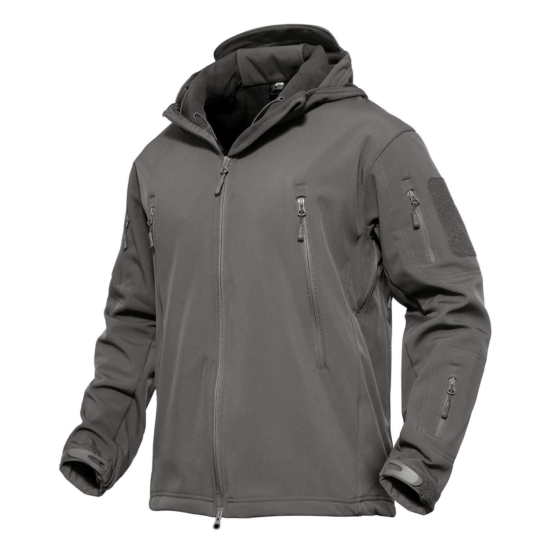 MAGCOMSEN Men Rain Jacket Raincoats for Men Fishing Jacket Tactical Military Jacket Skiing Jacket Gray by MAGCOMSEN