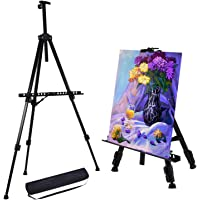 158 cm Reinforced Artist Easel Stand, Extra Thick Aluminum Metal Tripod Display Easel 52 to 158 cm Adjustable Height…