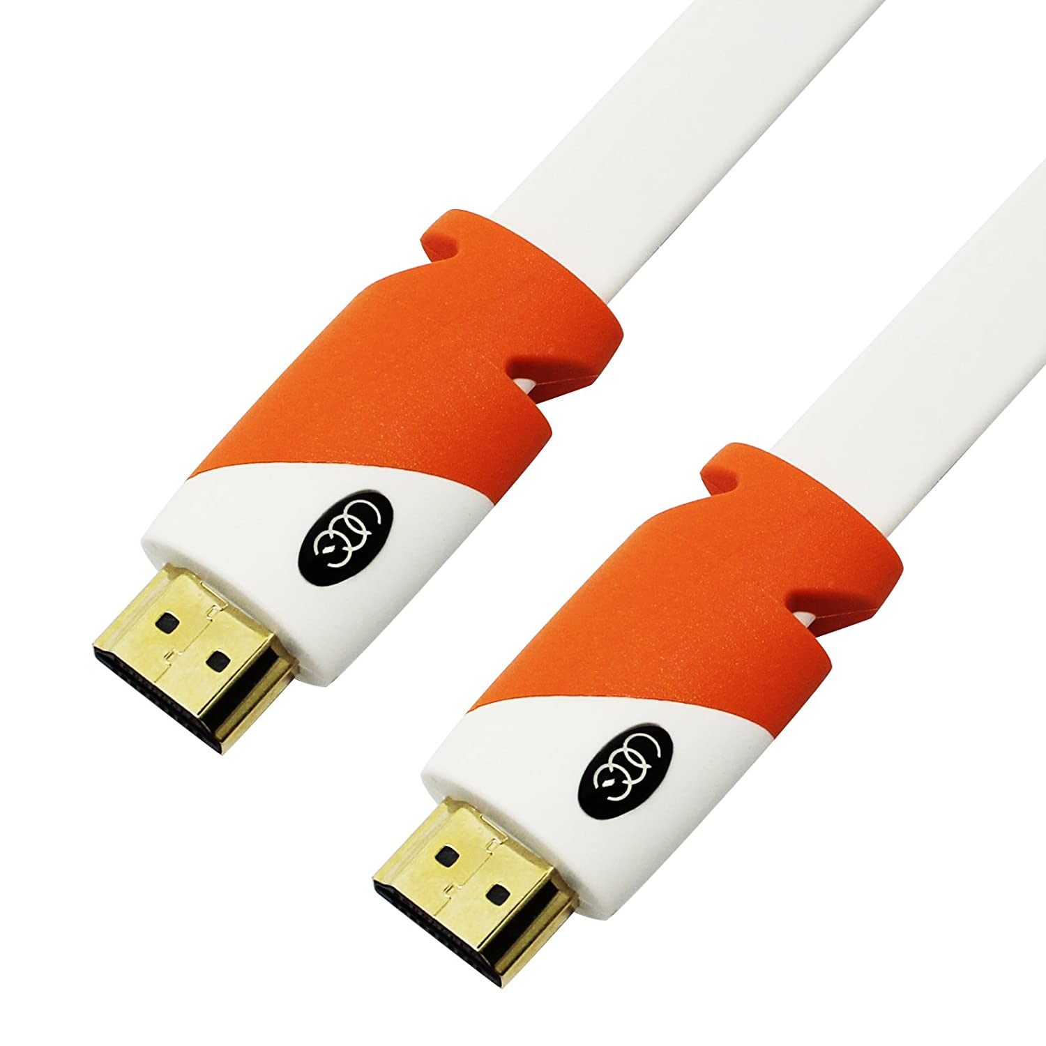 Amazon.com: FLAT HDMI Cable - 25 FT, High Speed HDMI Cable (7.6m ...