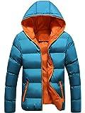 Sisaki Cappotto Piumino Uomo Invernale, Autunno Zip Giacca Lungo Cappotto Elegante Parka Outwear Tops