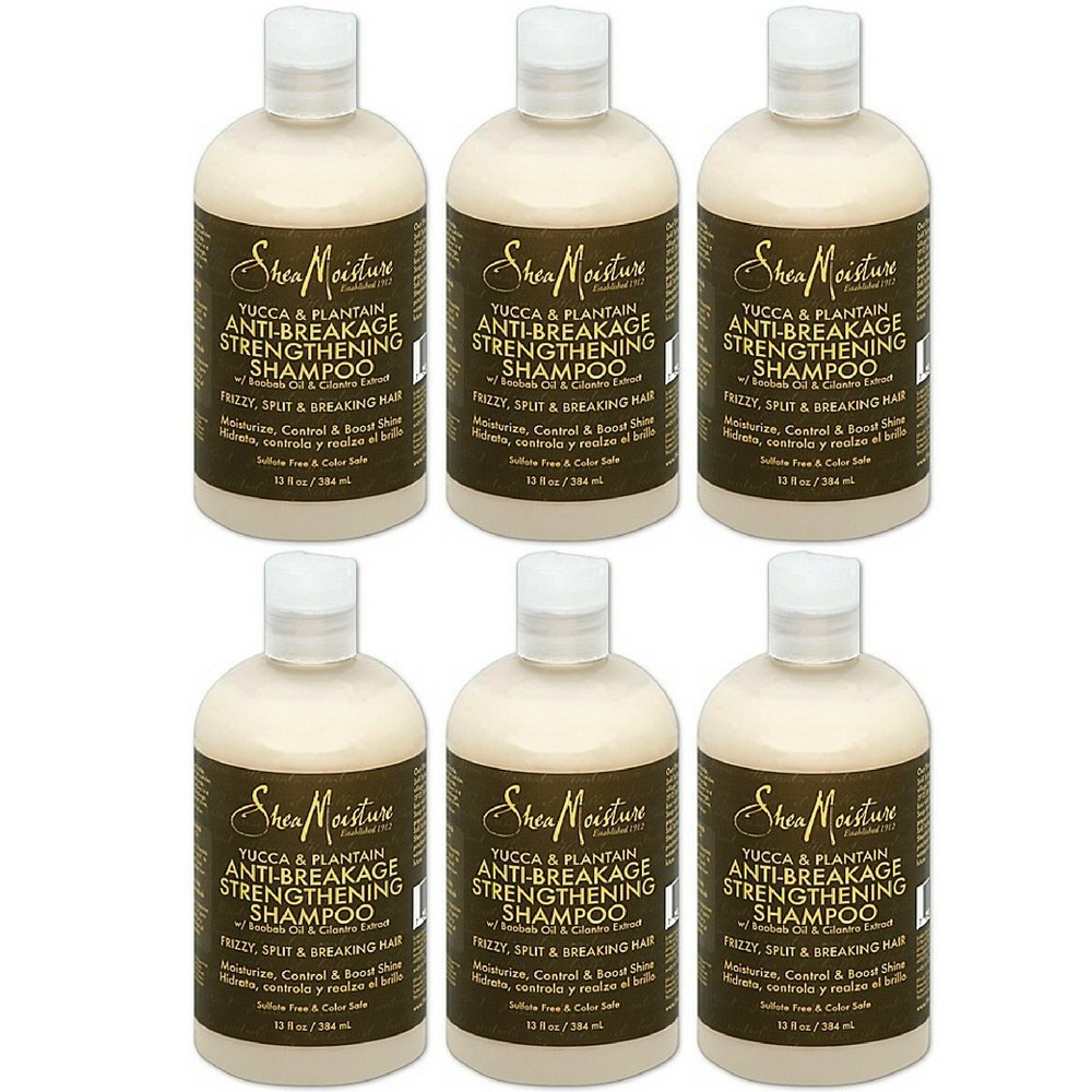 Amazon.com: Shea Moisture Yucca & Plantain Anti-Breakage Strengthening Shampoo-13 oz (6 pack): Beauty