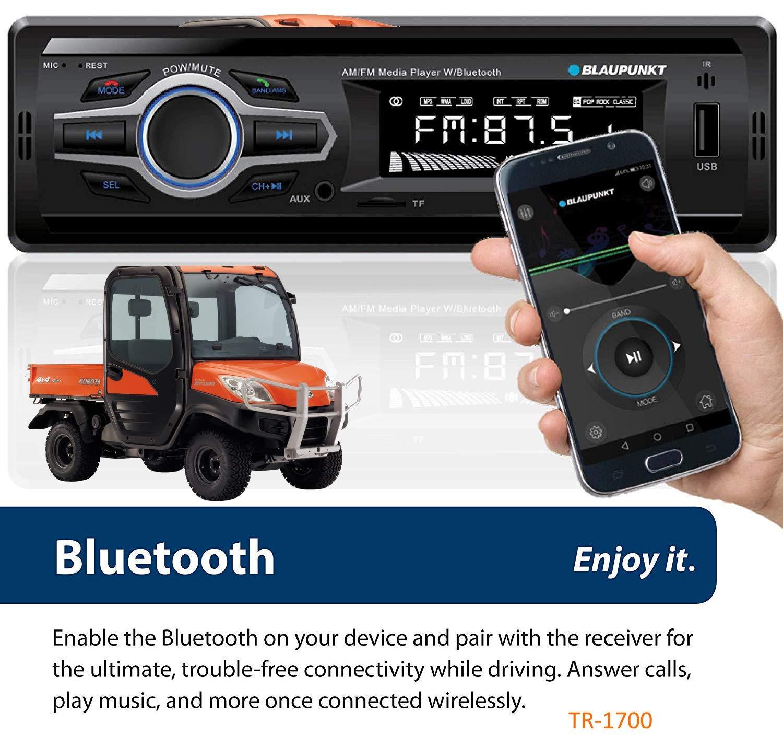 Kubota Tractor Direct Connect Stereo Radio MP3 AM FM USB Aux Bluetooth Remote RTV-1100 RTX-1100C Harness Plug B2650 RTV RTX