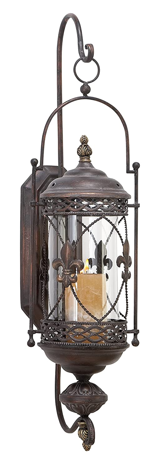 Deco 79 68448 Metal & Glass Candle Sconce UMA Enterprises