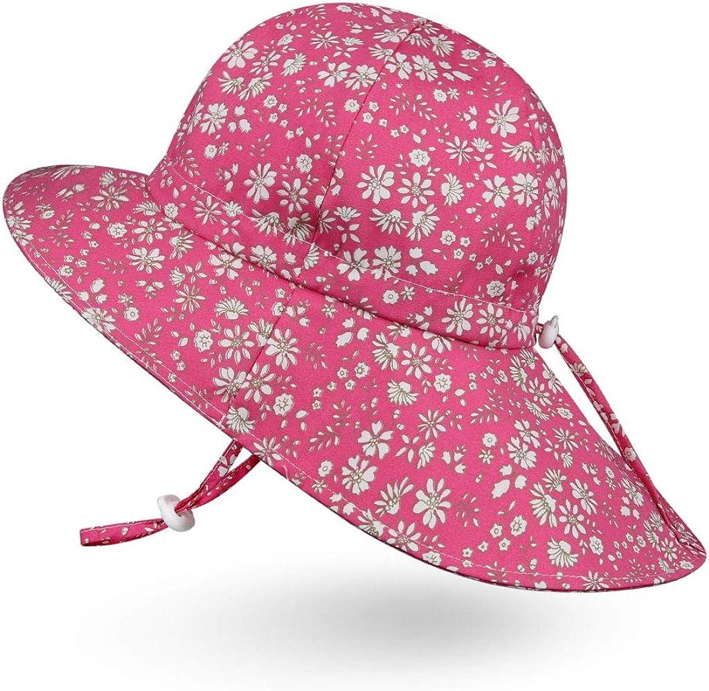Ami/&Li Baby Kids Summer Flap Cover Cap Cotton Anti-UV UPF 50 Sun Hat