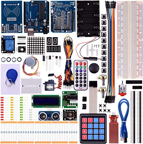 Kuman New for Arduino Components with R3 LCD servo Ultimate Starter RFID Learning Kit for Arduino Nano Learners Beginner, Complete 48 Set Kits K25: Amazon.es: Informática