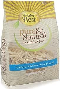 BEST PURE & NATURAL ALMONDS SLIVERED BAG 150GM